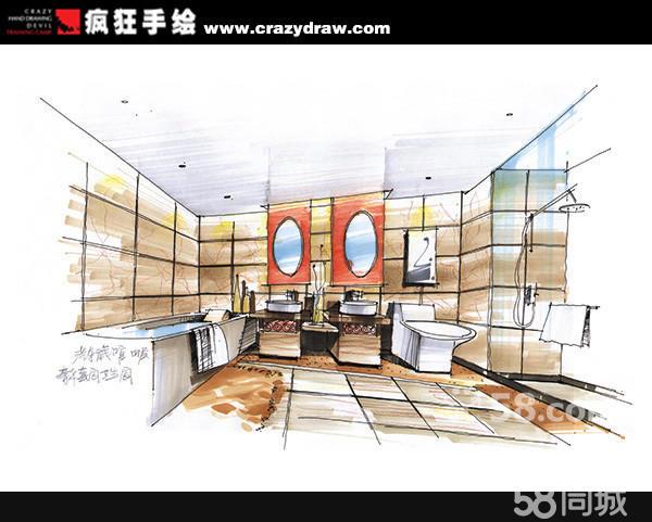 室内设计手绘效果图2
