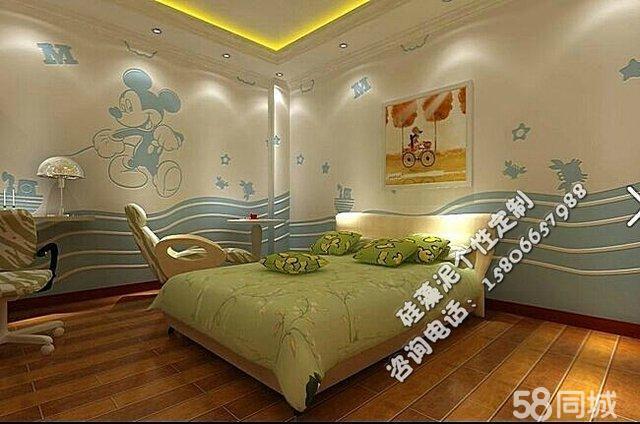 硅藻泥床头墙