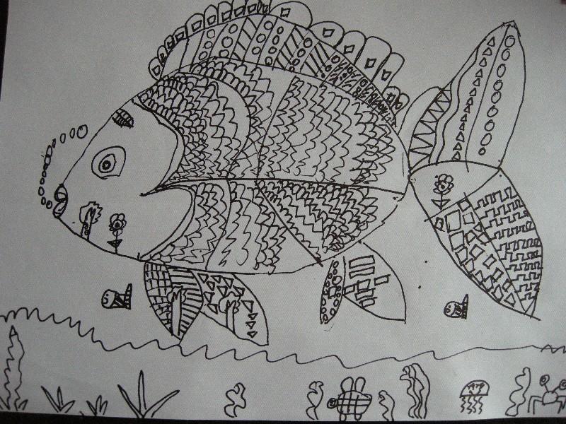 儿童线描画