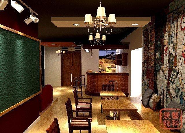 青岛桌游咖啡店装修