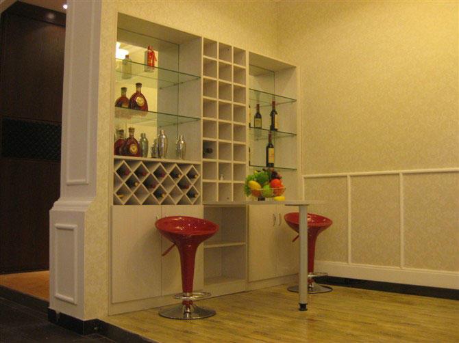 移门两边做酒柜效果图图片 家装效果图现代酒柜图,移门两边
