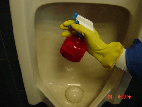 卫生间局部清洁流程