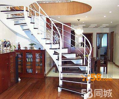 钢木双梁楼梯—58商家店铺
