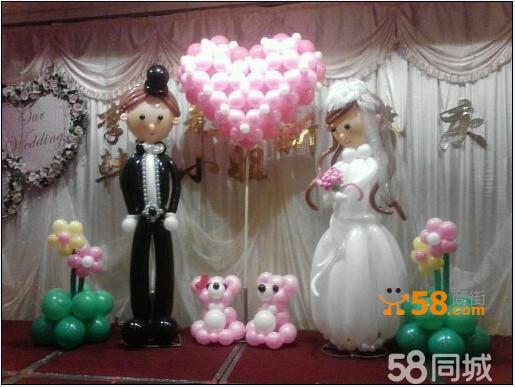 北京婚礼气球装饰,婚房气球布置