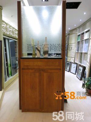 原木鞋柜屏风—58商家店铺