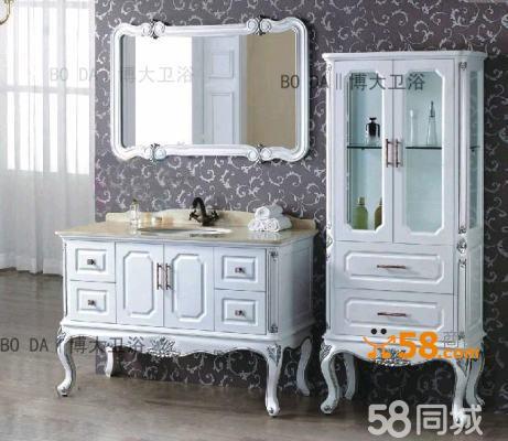 欧式浴室柜 橡木/实木大理石中式雕花浴柜洗手盆仿古
