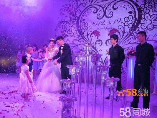 色婚礼舞台 背景 布置 背景 墙设计 婚礼 效果图高端婚庆